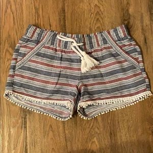 Red,white, & blue striped shorts